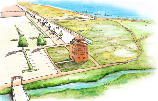 Wetlands, Trails, Natural Habitat Concept Drawings for AlamedaPoint