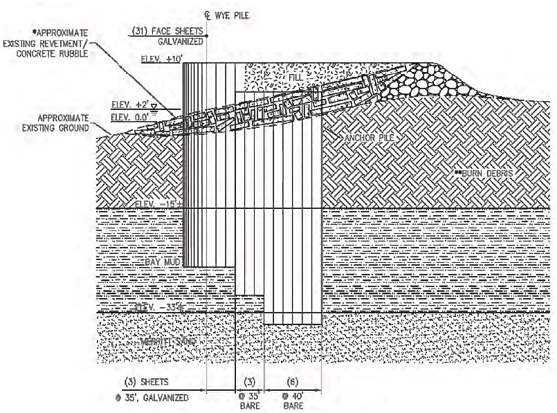 Sheet Pile Bulkhead Drawing Site 1 Alameda Point