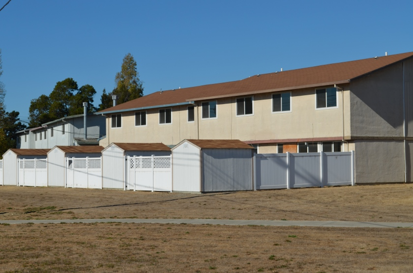 Typical North Housing multiplex military housing (vacant) constructed in 1969.