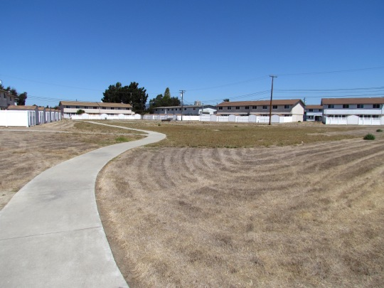 Central open space at North Housing.  Looking north.