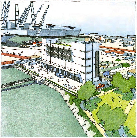 Proposed WETA ferry maintenance facility at Alameda Point.