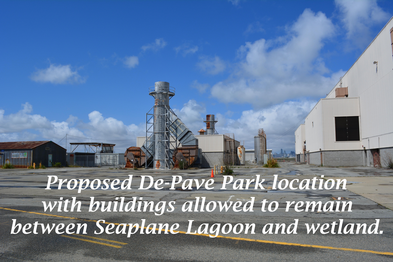 Proposed De-Pave Park location w:buildings