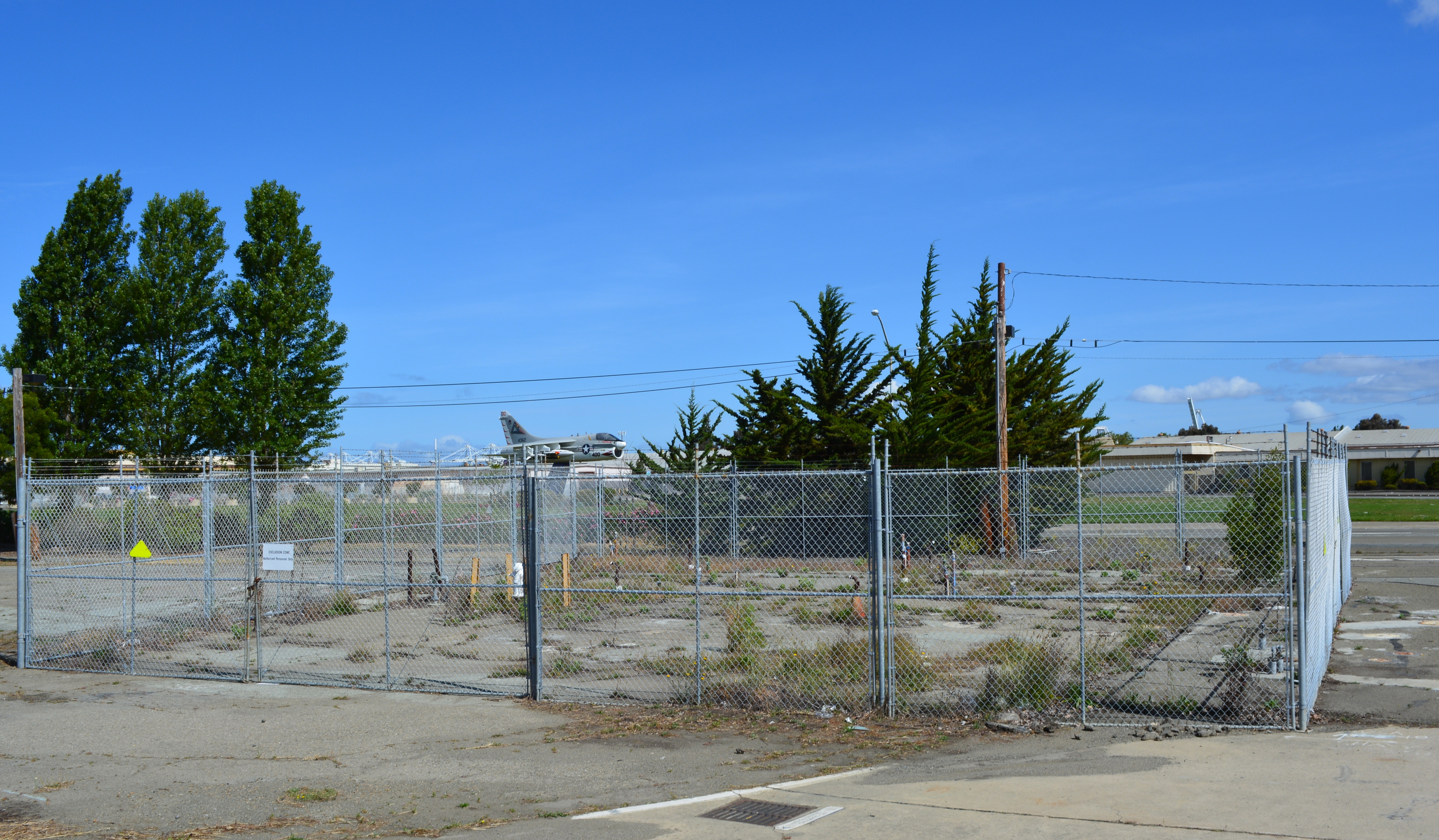 Fenced area is where testing was conducted.  This is one of the hot spot areas that will get extra attention to clean up trichloroethene in groundwater.