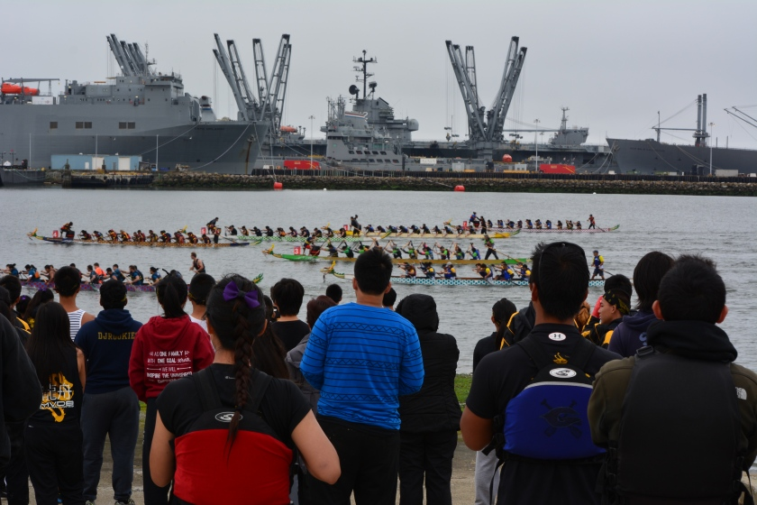 Dragon boat race on July13, 2014 at Alameda Point's Seaplane Lagoon