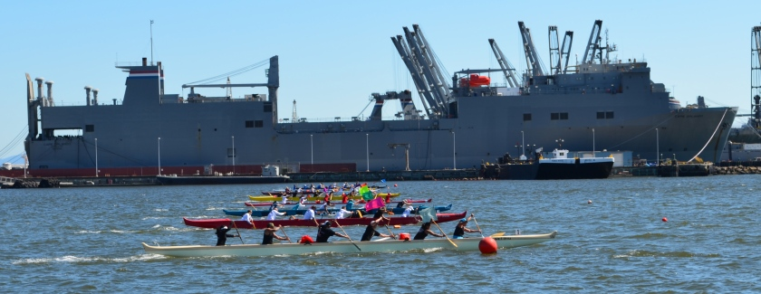 Outrigger canoes Alameda Point