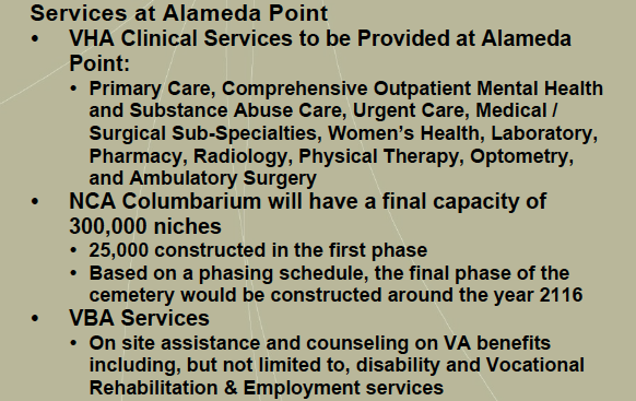 VA Alameda Point services