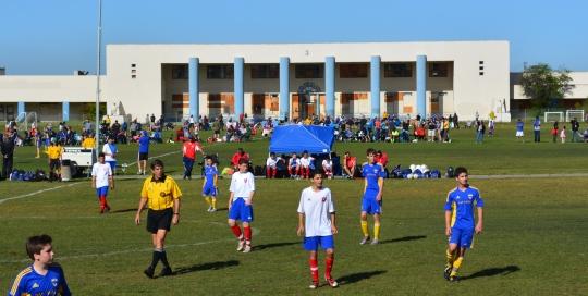 Soccer on the BEQ Quadrangle