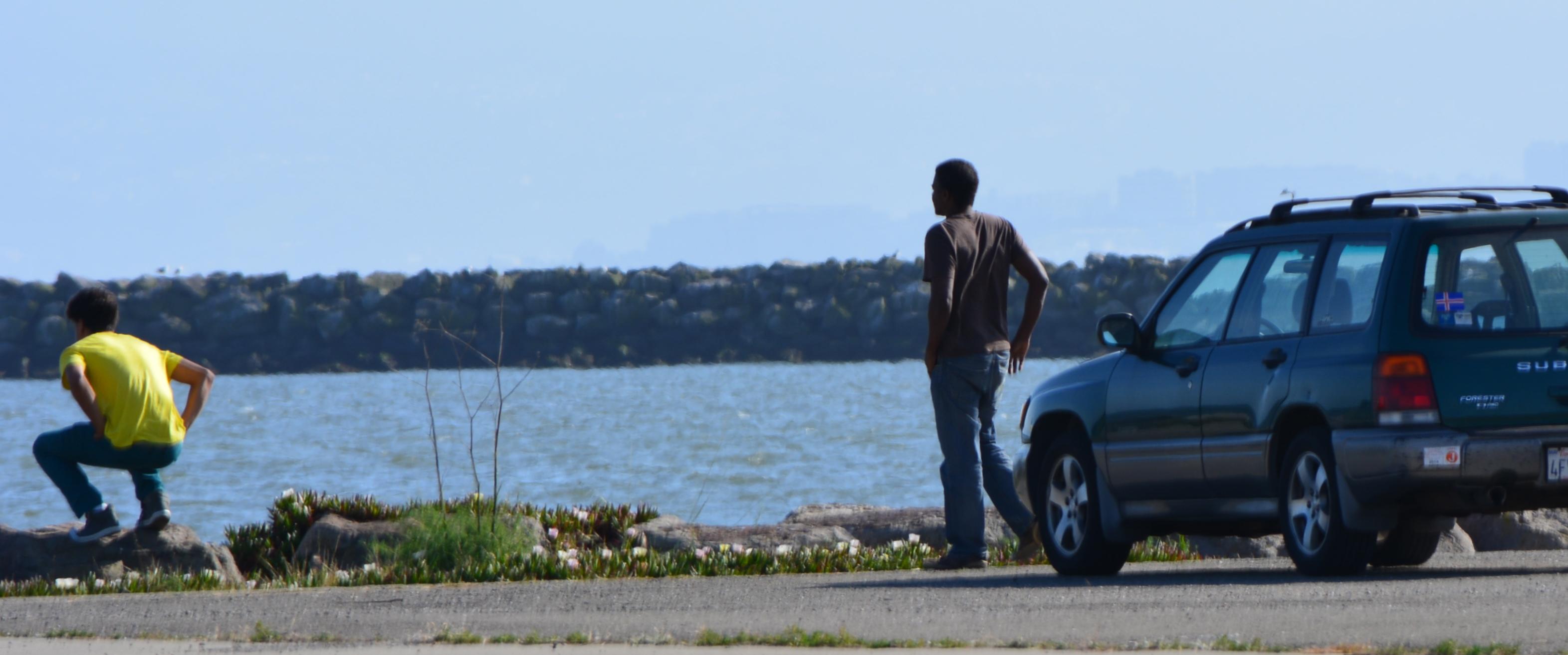 Car visitors to shoreline