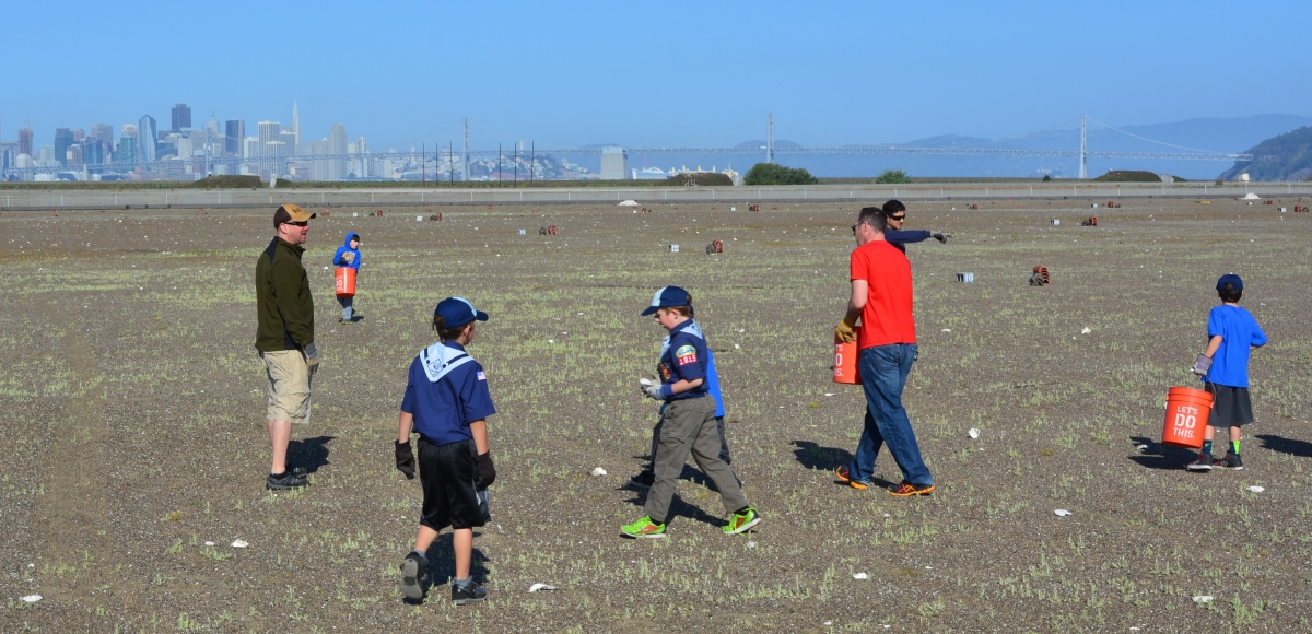 Scouts join volunteer effort for least terns at Alameda Point