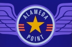 Aviation-themed Alameda Point sign