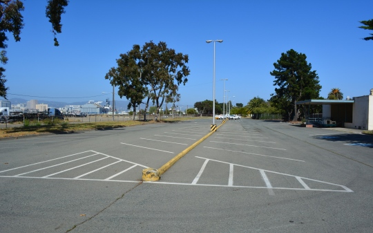 O Club parking lot.  Main Street to the left.