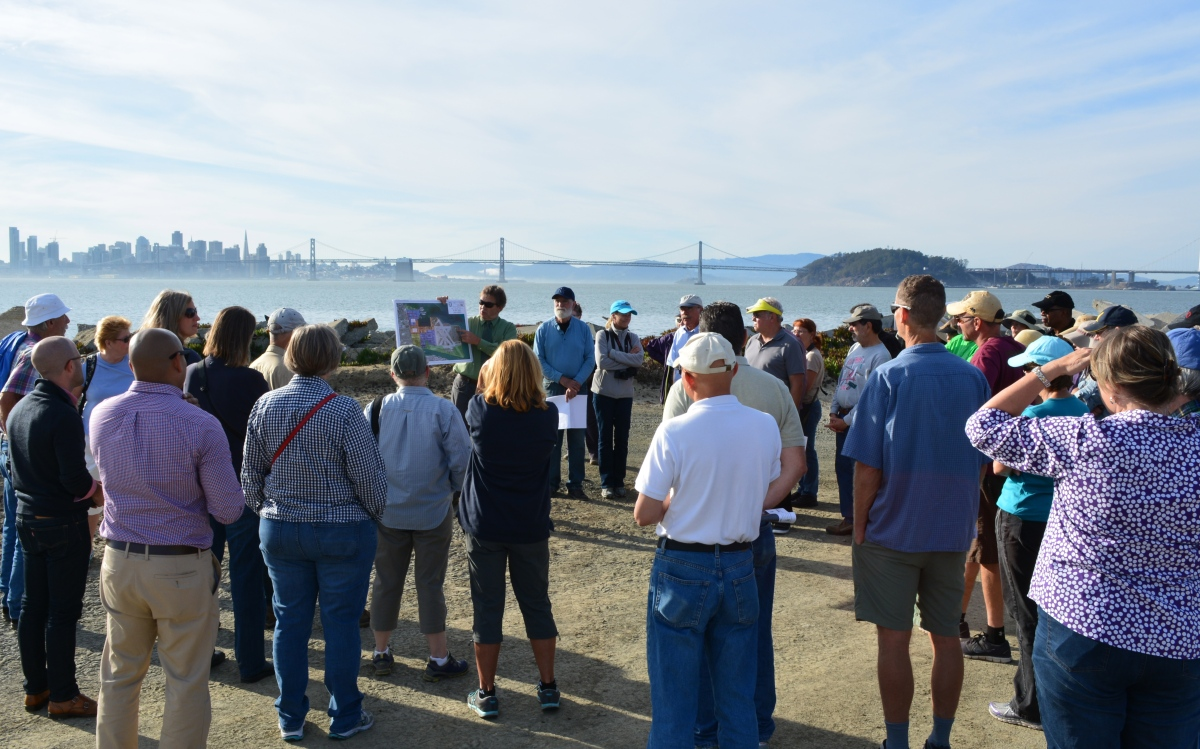 City leads tour across airfield to SF Bay shoreline