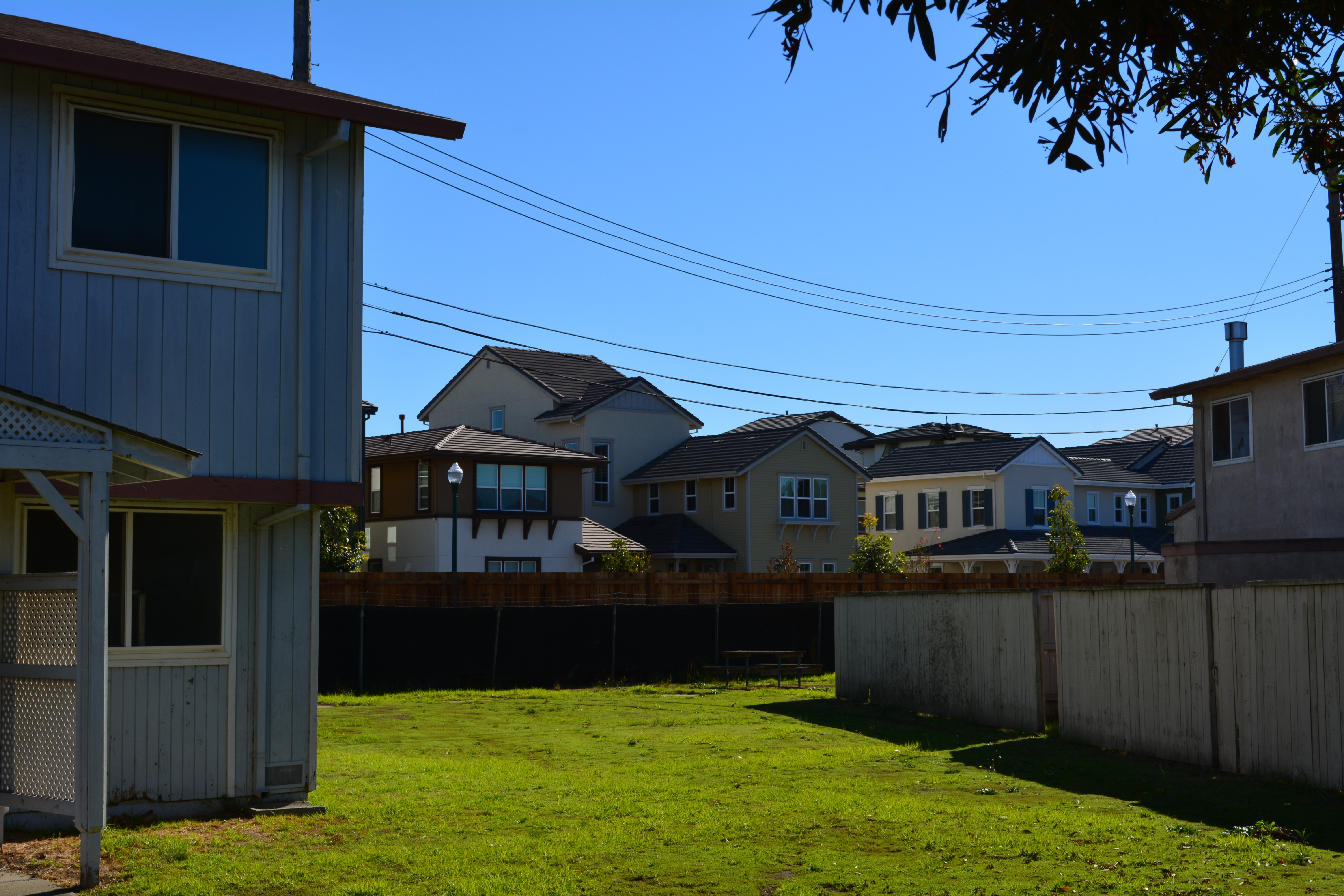 Future Housing Authority property, with new Alameda Landing houses in the background.