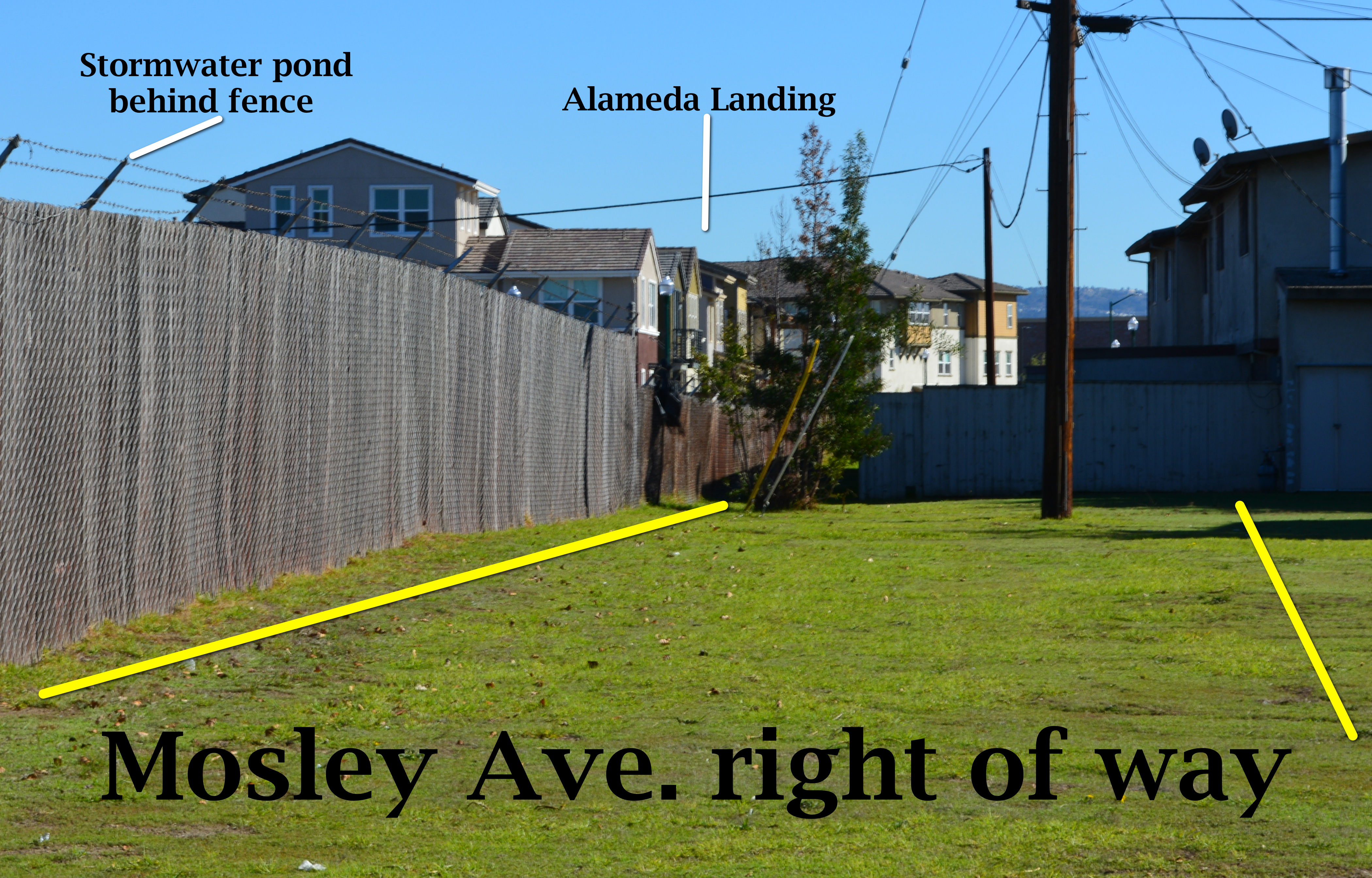 Mosley Ave. right of way