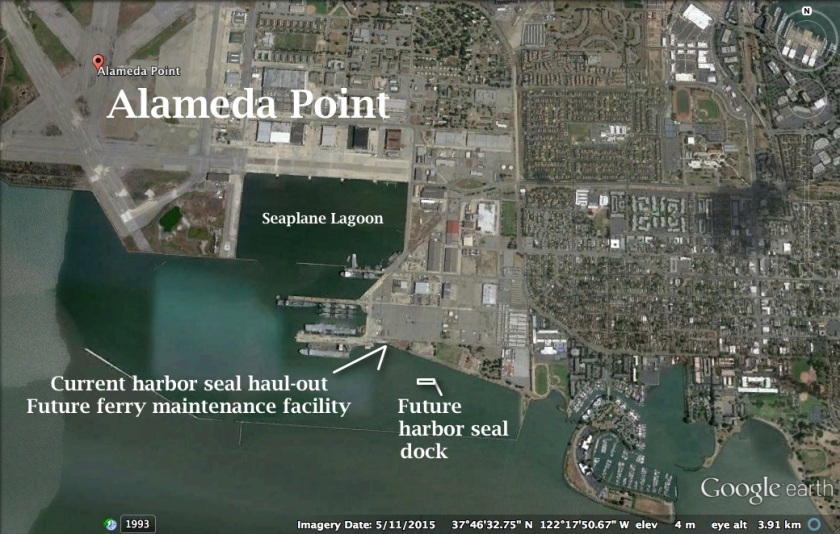 Alameda Point south with harbor seal haul-out