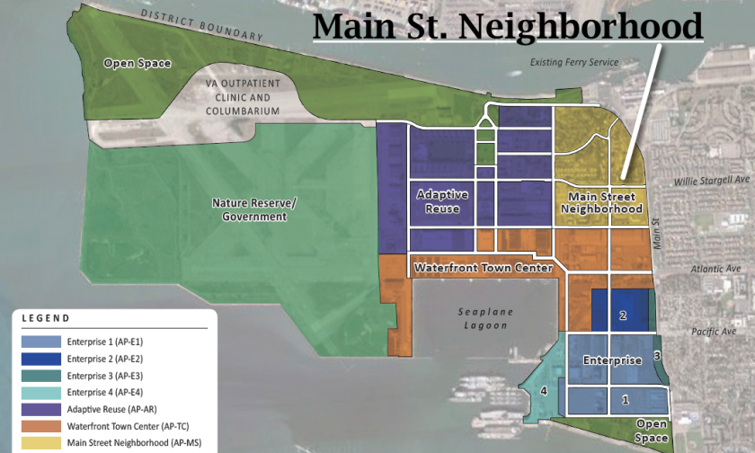 Alameda Point Zoning Map.