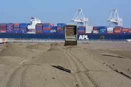 Sand delivery at least tern site Alameda Point