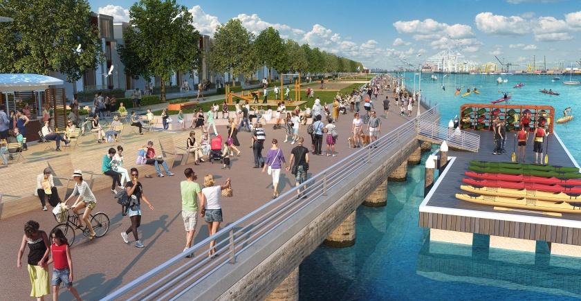 Alameda Landing promenade:park