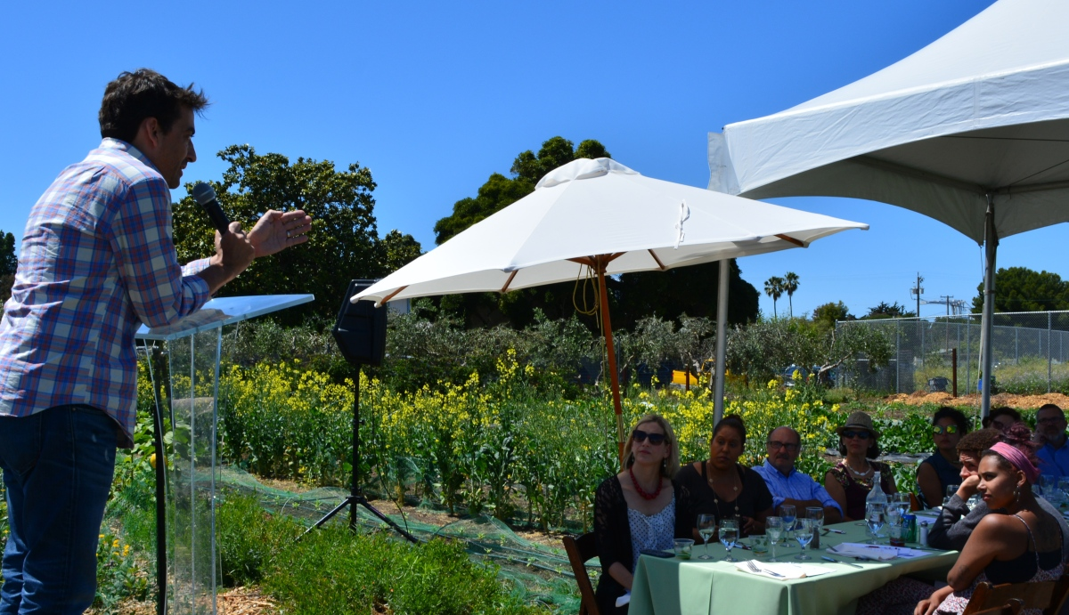 Dining on the farm at AlamedaPoint