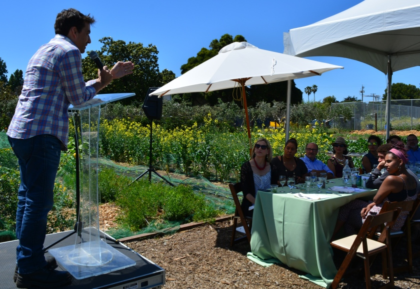 Keynote speaker Matthew Dolan, executive chef at Twenty Five Lusk in San Francisco, spoke at the Urban Farm Table fundraiser for the Alameda Point Collaborative.
