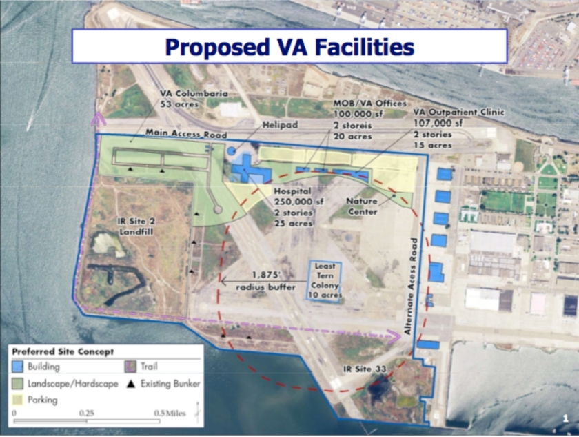 VA proposal (with hospital) presented to the community on December 18, 2008.