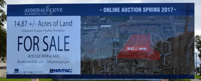 North Housing auction sign