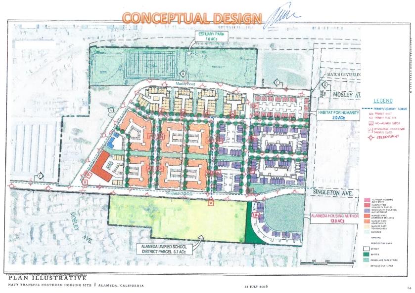 City of Alameda conceptual design map.