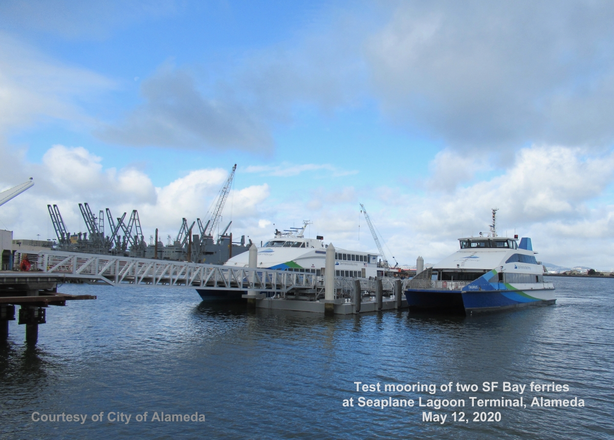 Seaplane Lagoon Ferry Terminal and Bay Trail updates – Oct. 1, 2020